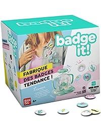 Bandai - Badge It! - Machine à créer des badges - Badgeuse - Loisirs créatifs - 35400