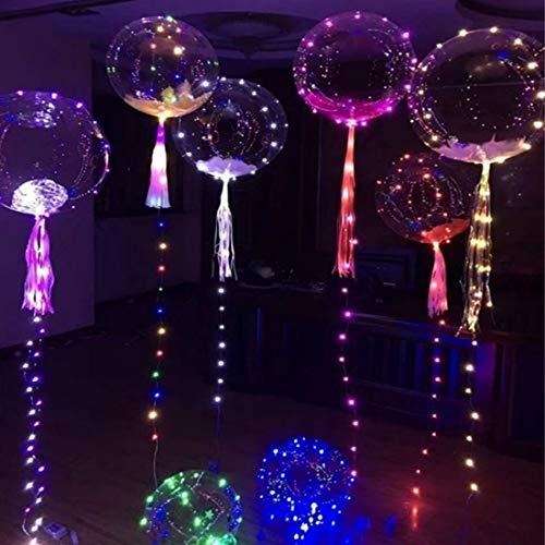 Luces LED tira Globo de onda de luz intermitente transparente Confesión, globo, interior, iluminación, decoración Para los cumpleaños de los festivales Adecuado para niños y adultos (5PCS)