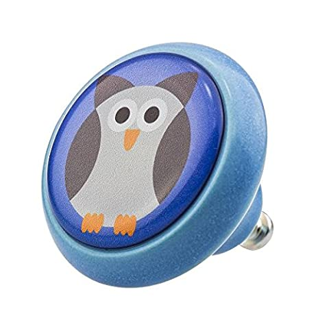 Ceramic Knob 03333B Animals Owl Horse Pirate Ship Car Astronaut Duck Fox Smiley Fairy Tale Seal - Furniture Vintage Home Decor Cupboard Handles Door Knobs Cabinet Drawer Pulls