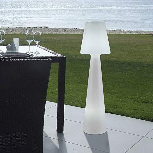 NEW Garden lumll110ofnw energis par lámpara, Plástico, 15W, E27, color blanco, diámetro 25cm, altura 110cm
