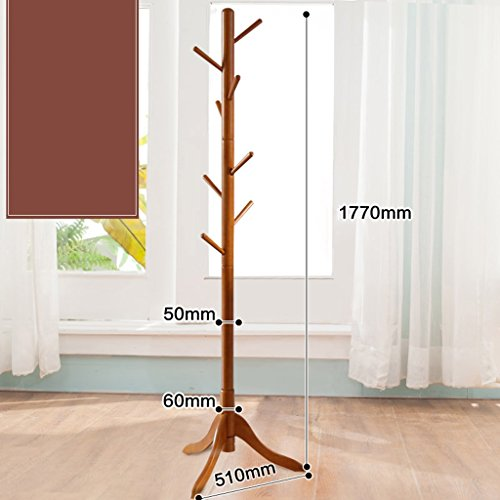 AJZGF,Garderobe Massivholz Kleiderbügel Kleiderbügel einfache Schlafzimmer Wohnzimmer modernen minimalistischen Kleidung Rack Hutstand ( Farbe : G ) (Großer Schlüssel Deckt Farbe)