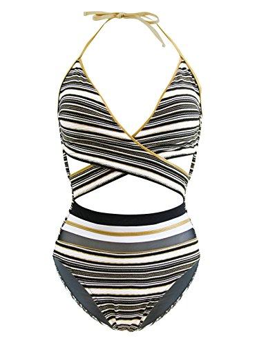 maillot-de-bain-1-piece-croise-gottex-regatta-noir-blanc-et-or
