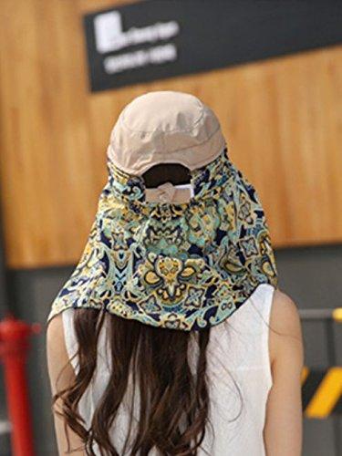 Qingsun Chapeau en Coton Chapeau de Plage Wide Brim Chapeau à large bord Chapeau De Soleil Chapeau Ete pour Femme-Couleur Kaki Kaki