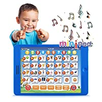 "Learning Pad Fun Kids Tablet with 6 Toddler Learning Games by Boxiki Kids. Early Child Development Toy for Number Learning, Learning ABCs, Spelling, ""Where Is?"" Game, Melodies. Educational Toy"