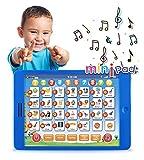 Boxiki kids Englisch Lern-Tablet, lustiges Tablet für Kinder mit 6 Lernspielen für Kleinkinder für frühe Kindesentwicklung, Spielzeug zum Lernen von Nummern, dem ABC, Buchstabieren,