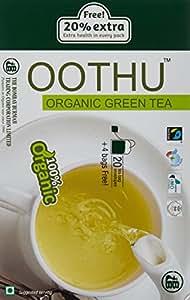 Oothu Organic Fairtrade Green Tea in Envelopes, 48g (20 Tea Bags) with Free 4 Tea Bags