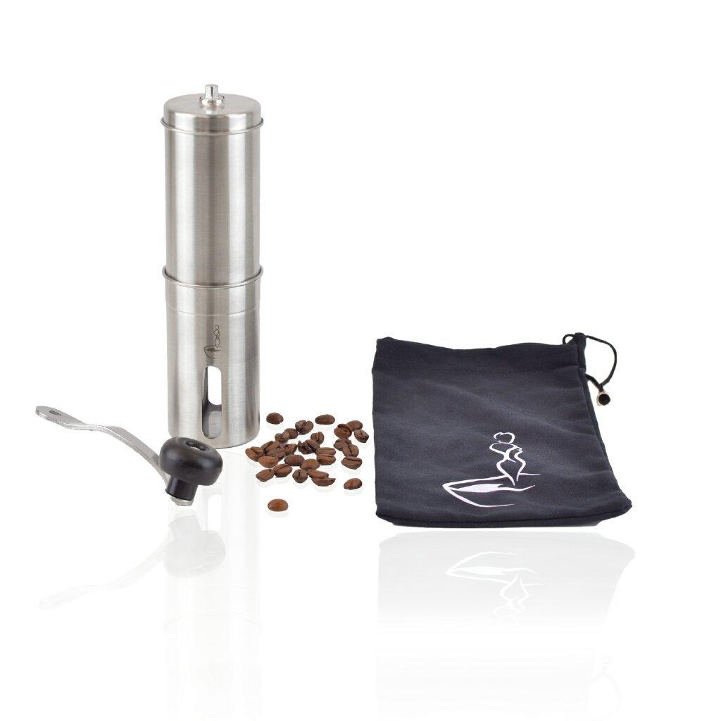 HSM Manuelle Hand Kaffeemühle Handkaffeemühle Handmühle Keramikmahlwerk Kaffee Espresso Mühle Edelstahl