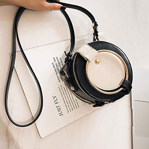 Box Kostüm Black Kleines - Lixibei Mini-Tasche, Kontrast vielseitig Umhängetasche Mode schräge ausländische kleine runde Tasche besondere Geburtstagsgeschenk Tasche Designer Mini Crossbody Tasche,Black