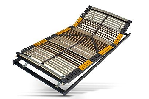 Hilding Sweden Lattenrost, 90 x 200 cm, mit 44 Latten aus Holz (Kopfteil und Fußteil verstellbar), Fertig montiert, Geeignet für alle Matratzen, Härtegrad 9-fach justierbar