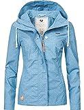 Ragwear Damen Jacke Übergangsjacke Kapuzenjacke YM-Lynx Dots Sky Blue Gr. L