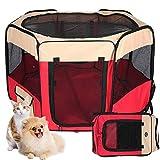 Maxmer Recinto per Cani da Interno Pieghevole Recinzione Cuccioli Tenda Box per Gatti Piccoli Animali in Nylon