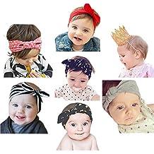 JMITHA Recién nacido y Bebés arco Del pelo de la venda elástico Bebé  turbante ... ee09acc8fb4