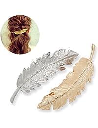Hosaire Horquillas pelo delicado Clip Pin garra accesorios broches tocado estilo joyería del pelo -2pcs
