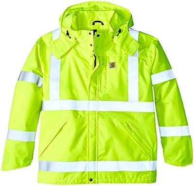 Carhartt - Chaqueta Impermeable para Hombre (Alta Visibilidad, Clase 3) - Verde -