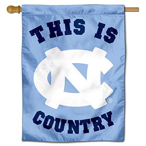 UNC Tar Heels Dies ist Teer Ferse Country doppelseitig House Flagge