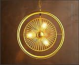 Iluminación colgante,Lámpara de araña de estilo retro de hierro industrial...