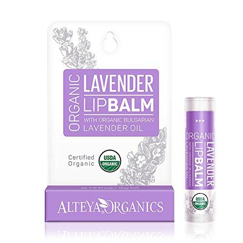 Alteya Organic Balsamo Labbra con oli essenziali di Lavanda Bulgara 5 g USDA certificata organica bio naturale ristrutturativa cura labbra sotto la