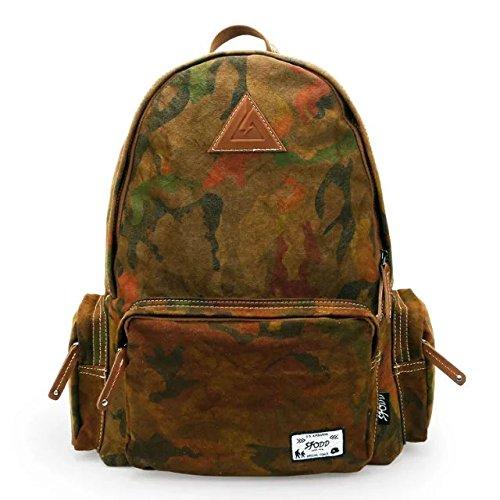 DANNY BEAR Zaini Laptop Tracolla Messaggero Bag Viaggio Borsetta Camping Escursionismo Zaino Daypack Borsa Scuola(Kaki)