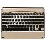 Kabellos blau Zahn Tastatur, bbring 24,6cm Tablet Bluetooth Aluminium Tastatur für iPad Air 2mit 7Farbe LED-Beleuchtung Rückseite beleuchtet Built in Lithium-Akku