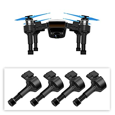 BTG Upgrade Extended Landing Gears High Legs with Springs for DJI Spark Drone, Safe Landing Stabilizers Shockproof Gimbal Protector