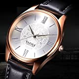 Relojes Hermosos, YAZOLE Hombre Reloj de Pulsera Reloj de Moda Reloj Casual Cuarzo Reloj Casual Piel...