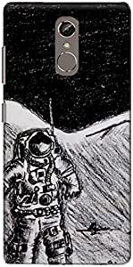 The Racoon Grip Man on Moon hard plastic printed back case/cover for Gionee S6S