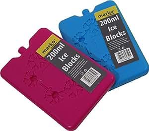2x 200ml Ice Blocks Lunchbox Größe Kühler hält Lunch Frisch und kühl Gefrierschrank