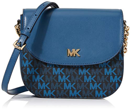 b28a0f1360 Michael Kors Crossbody, Bolso bandolera para Mujer, Azul (Admiral), 15x10x5  cm