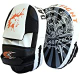 Tigon Sports Curved Focus Pads Mitts Hook and Jab Punch Bag Kick Boxing Muay Thai Arm MMA UFC (Black)