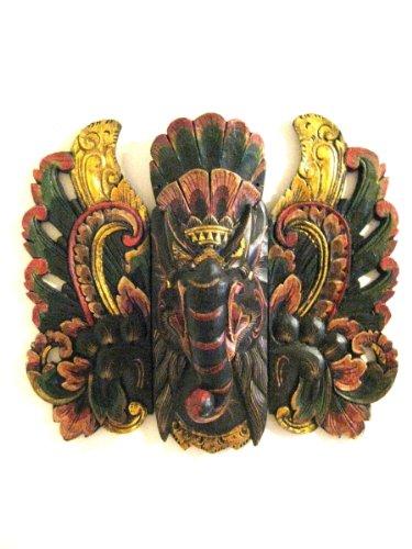 Ganesha Holz Statue Wandbehang Decor ergänzen Fortune Maske, x-lg, Oma® Marke