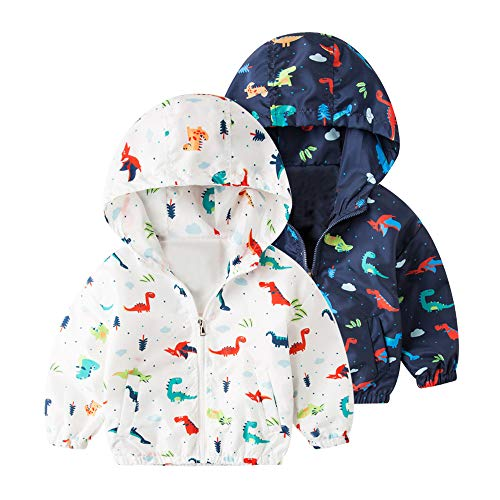 PLOT❤Dinosaur Jacket Baby Outerwear Coat Boys Girls Kids Children Hooded Clothing 2-6T