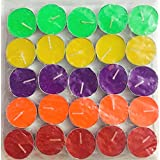Pack Of 50 Colored Tea Light Candles Best For Home Decoration