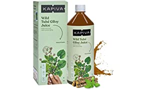 Kapiva Wild Tulsi Giloy Juice 1L | Natural Juice for Building Immunity | First brand to use Neem Grown Giloy Stems with Fresh Tulsi Leaves | No Added Sugar