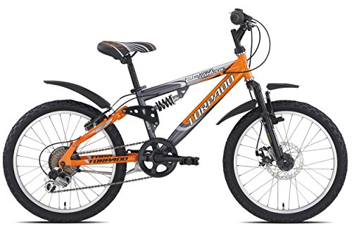 "Torpado bici junior mtb full cobra 20"" disco 6v arancione grigio (Bambino) / bicycle junior mtb full cobra 20"" disc 6v orange grey (Kid)"