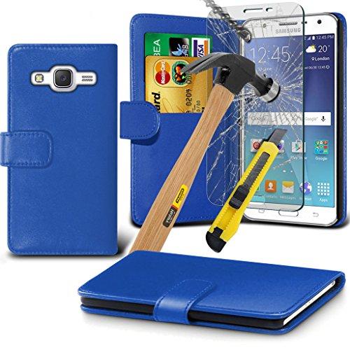 Hülle für Samsung Galaxy J5 / Samsung Galaxy J5 SM-J500F Case Universal Car Phone Halter Halterung Cradle-Dashboard & Windschutz für iPhone yi -Tronixs Wallet + Glass ( Green )
