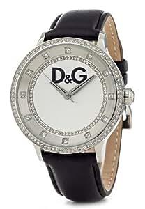 Dolce & Gabbana - DW0515 - Montre Femme - Quartz Analogique - Bracelet en Cuir Noir