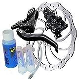 Magura MT5 Bremsenset, Bremse - Bremsscheibe - Centerlock-Adapter - Hydrauliköl MT5, HC180mm, Entlüftungs-Kit