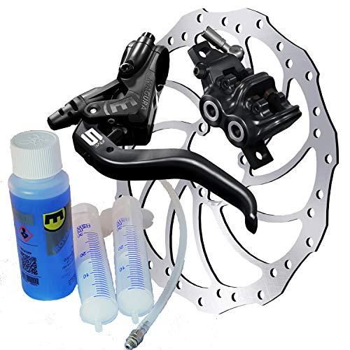 Preisvergleich Produktbild Magura MT5 Bremsenset,  Bremse - Bremsscheibe - Centerlock-Adapter - Hydrauliköl MT5,  HC203mm,  Entlüftungs-Kit