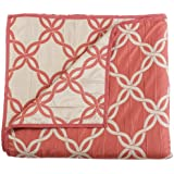 Stylemaster Home Products Renaissance Home Fashion Belmont Reversible Bedspread, Twin, Coral