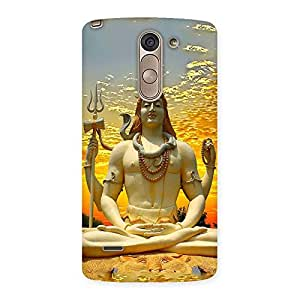 Special Shiva Samadhi Print Back Case Cover for LG G3 Stylus