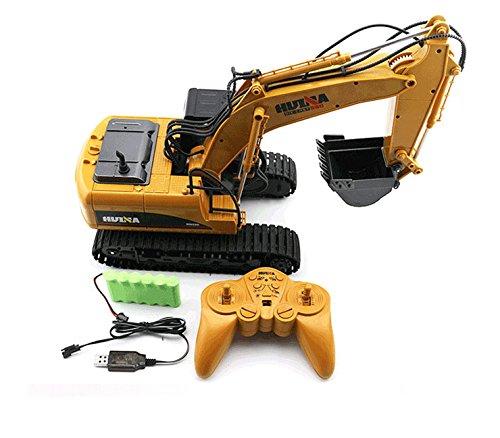 RC Auto kaufen Baufahrzeug Bild 4: FM1550 | Ferngesteuerter Kettenbagger mit voller Funktion, Bagger mit Fernsteuierung, ferngesteuert mit Akku und Ladegerät*
