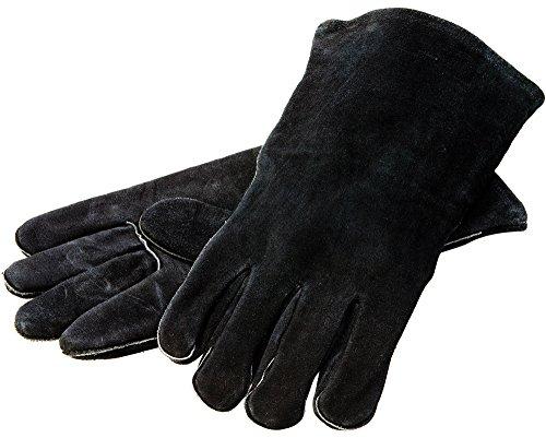 Lodge 38,1 cm Leder Outdoor Kochhandschuhe - hitzebeständige Handschuhe für Gusseisen Kochen -