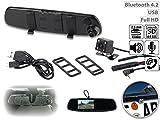 NavGear Full-HD-Rückspiegel-Dashcam mit Rückfahr-Kamera, 11,4-cm-Display & FSE -