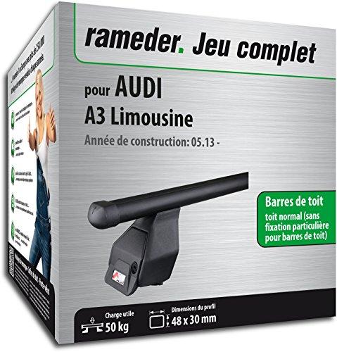 Rameder Pack Barres de Toit Tema pour Audi A3 Limousine (118772-11282-8-FR)