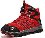 Scarpe da Escursionismo Stivali da Neve Scarpe da Trekking Unisex - Bambini(G Rosso,38 EU)
