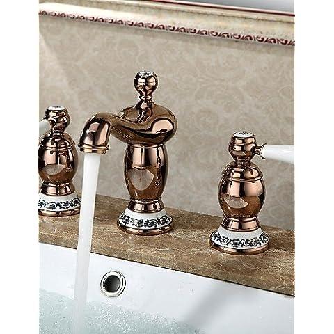 El lujo clásico baño grifos fríos y calientes Sink faucet generalizada Rose diseño contemporáneo acabado en frío CSÁSZÁR grifo