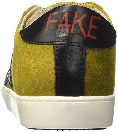 Fake By Chiodo Low 048, Sneaker a Collo Basso Unisex – Adulto Giallo (Crosta Giallo/Sidney Soft Nero)