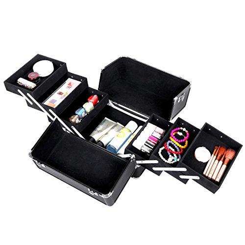 songmics pro makeup storage cosmetic case nail art kit. Black Bedroom Furniture Sets. Home Design Ideas