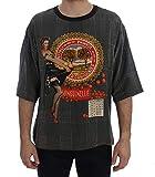 Dolce & Gabbana - Herren Shirt - T-Shirt - 100% Seide - Crewneck SANGUINELLA Italia Print Silk T-Shirt Größe IT48 | M