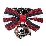 KDSANSO Hundehalsband mit Strass Pet Supplies Schmetterling Fliege Glocke Kleine und Mittlere Hunde Gentleman 32 * 1cm